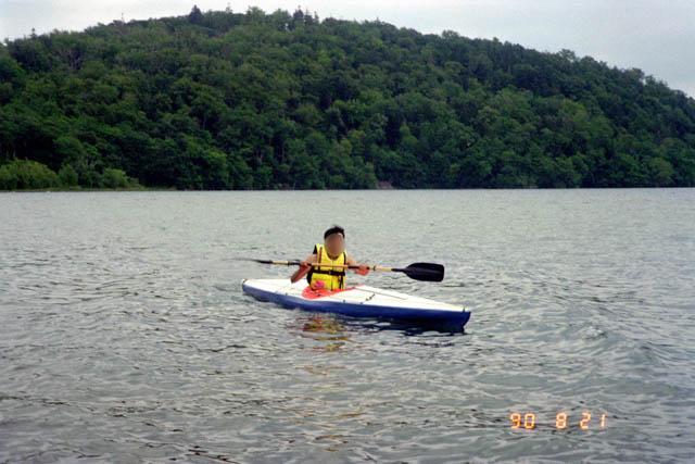 屈斜路湖でのカヌー