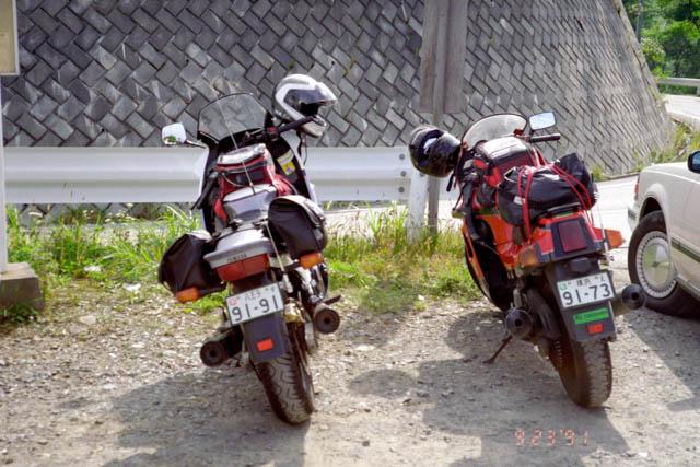 駒ヶ根ツーリング・GPZ100RXとFJ1200