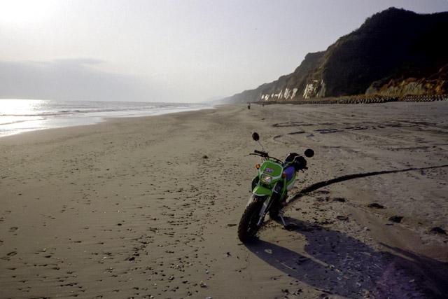 伊良湖から浜名湖へ続く砂浜