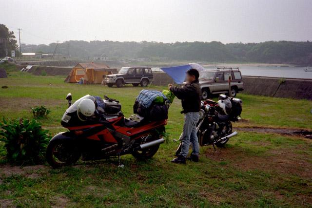 紀伊半島の入口でキャンプ