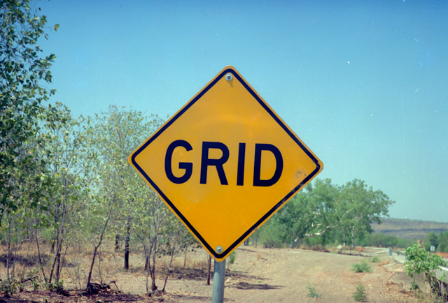 GRIDの看板