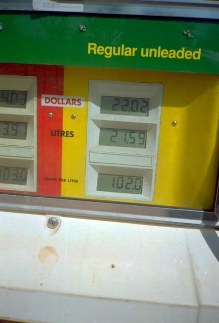 オーストラリアのガソリンスタンド