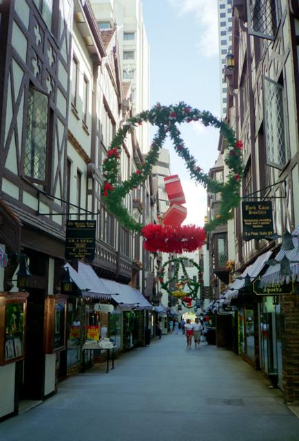 クリスマスのパースの街