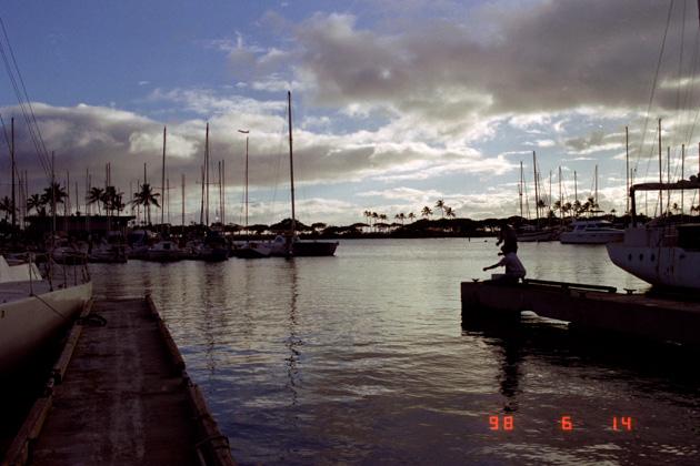 ハワイの港