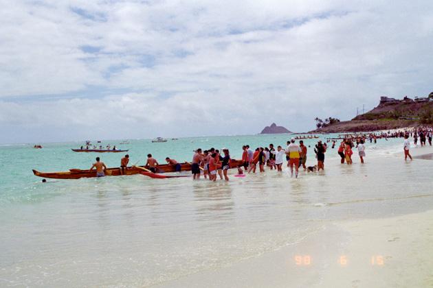 カイルアビーチのボートレース