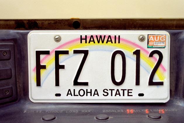 ハワイのナンバー
