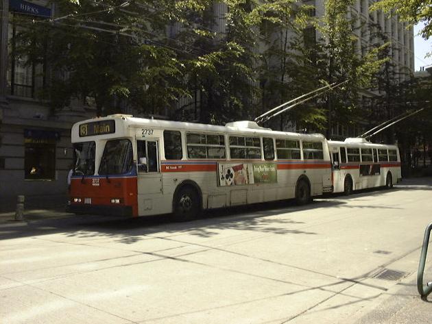 バンクーバーのトロリーバス