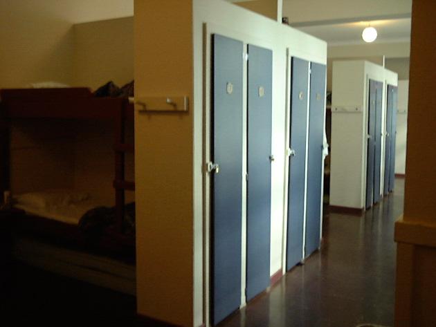 バンクーバーのユースホステルの室内