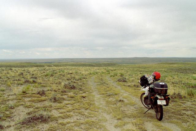 永遠と続くワイオミング州の牧場風景