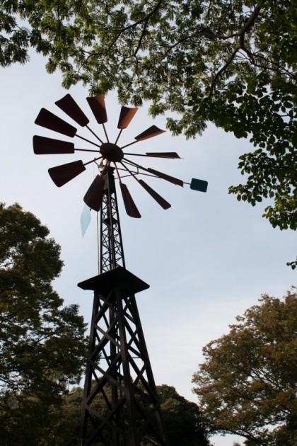 フランス山公園の赤い風車