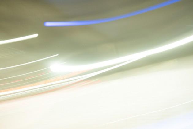 アクアラインの車の光跡