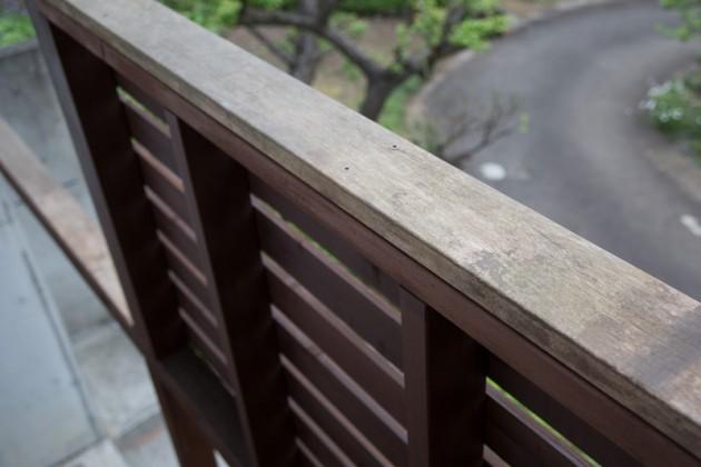 木製てすりにイペを使って腐り予防