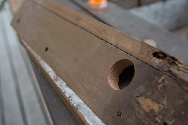 自作の木製立水栓