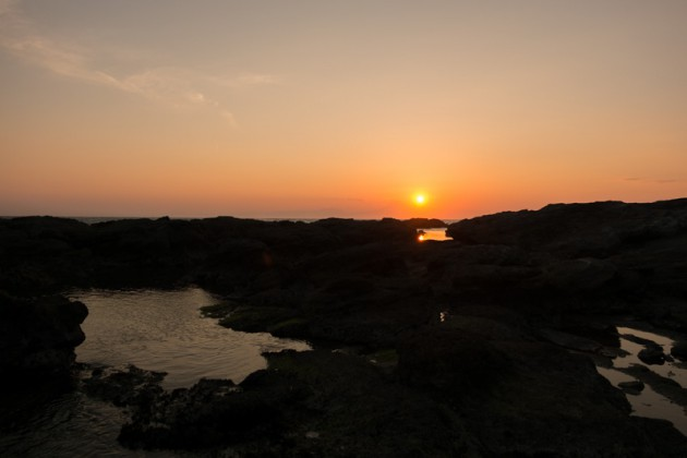三浦半島・地磯の夕焼