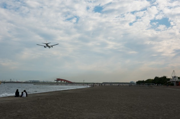 城南島海浜公園から撮影した写真