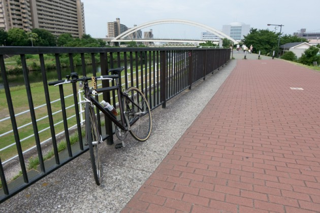 集合場所の新子安まで鶴見川サイクリングコースで南下