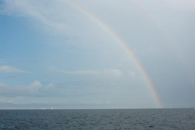 福浦で見た虹