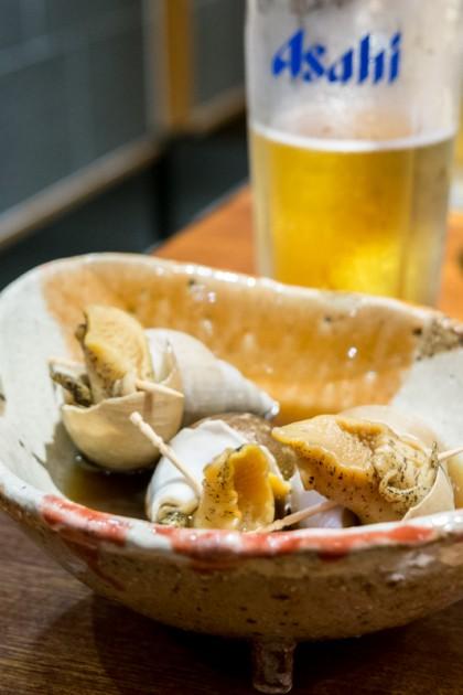 バイ貝とビール