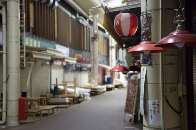 早朝の近江町市場