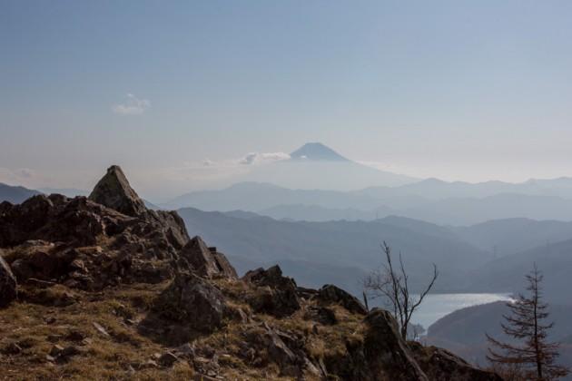 大菩薩嶺・雷岩からの富士山
