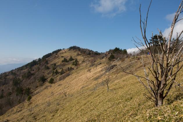 雷岩と大菩薩峠の間の風景