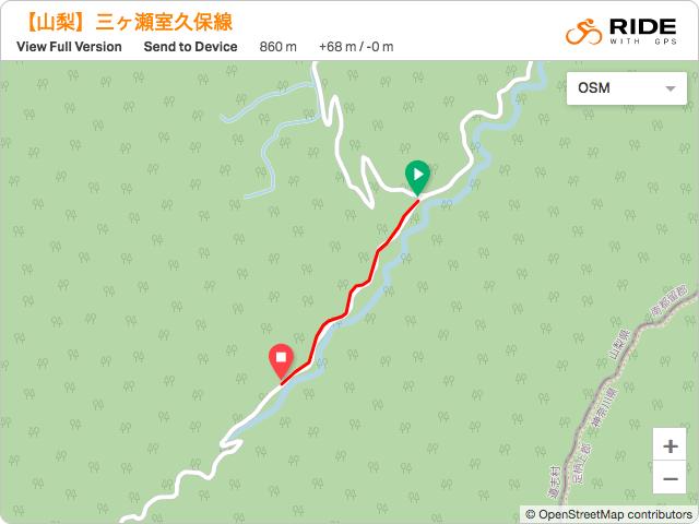 道志の林道【三ヶ瀬室久保線】のルート地図