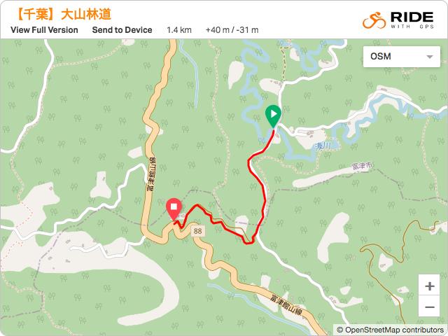 千葉【大山林道】のルート地図・GPSデータ