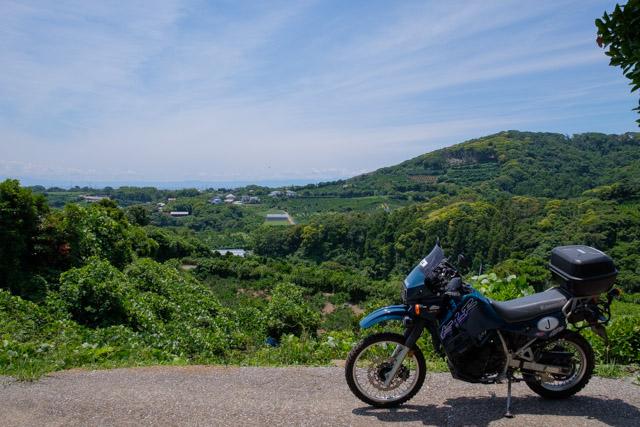 三浦富士の登山道入口から少しおりた所の風景