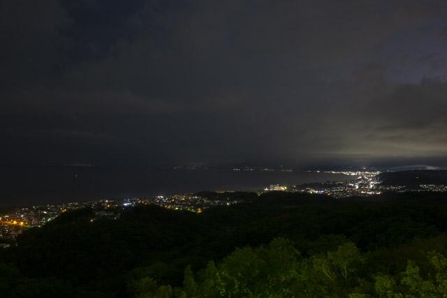 湘南平の小田原方面の夜景