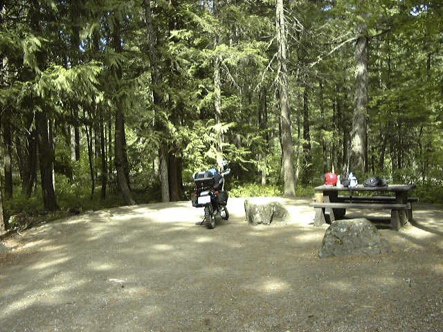カナダでのキャンプ