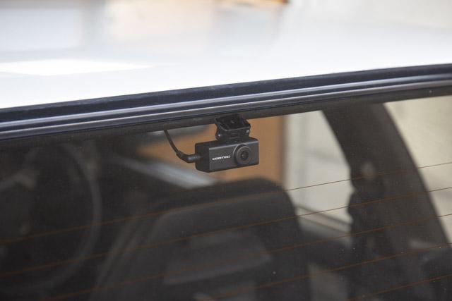 AE86に装着したドライブレコーダー(リア)