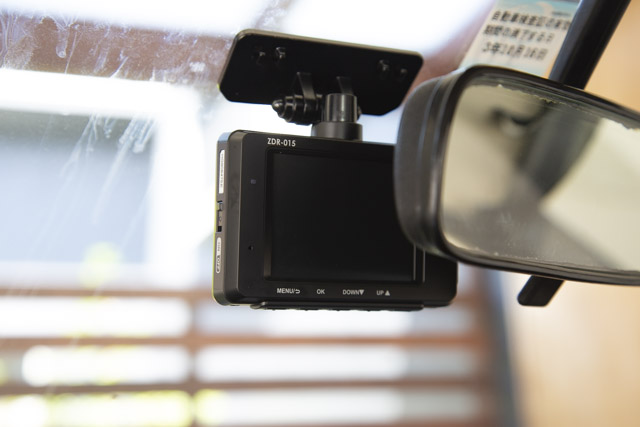 コムテック ZDR-015 フロントカメラ取り付け