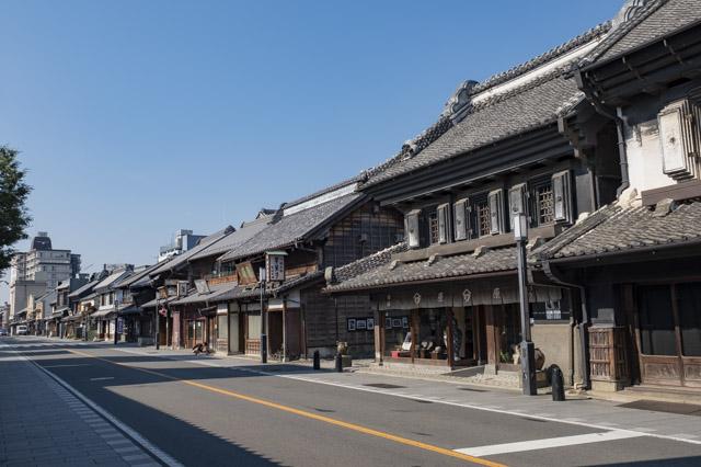 川越・蔵造りの町並み