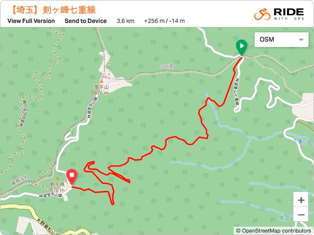 林道・剣ヶ峰七重線