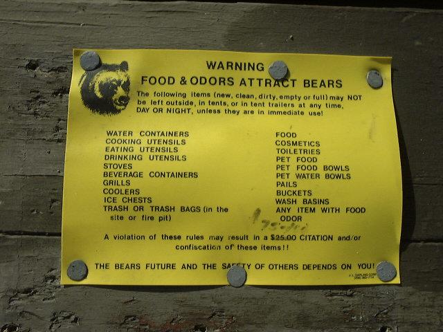 クマ対策としてテント内に持ち込んではいけないもの