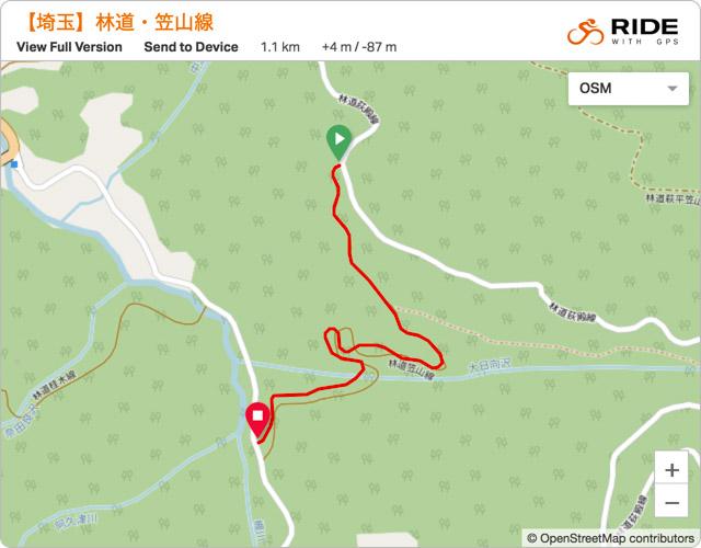林道・笠山線 地図