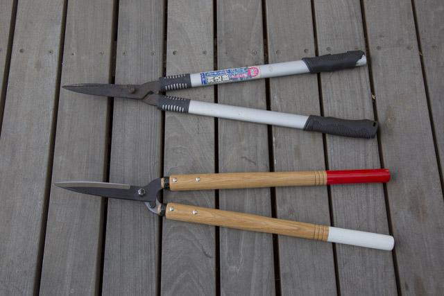 岡恒 刈込鋏 55型とアルミ刈込鋏