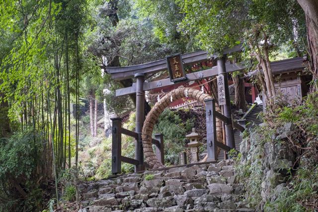 竹寺の茅の輪