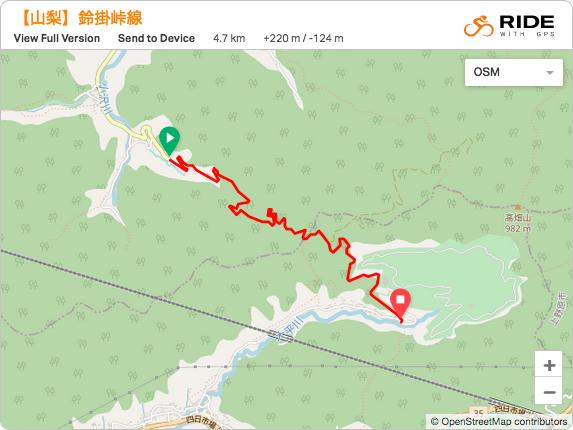 鈴掛峠林道 地図