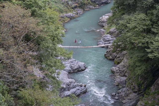 雲仙橋から見た鳩ノ巣渓谷