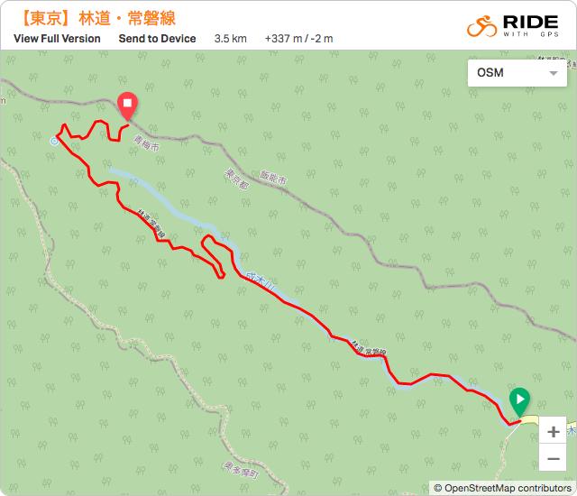 東京【林道・常磐線】のルート地図
