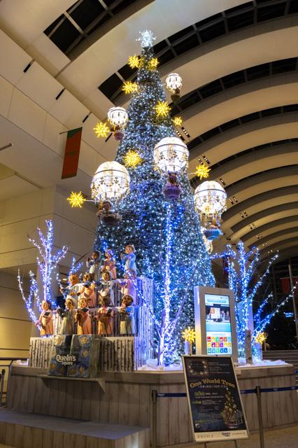 クイーンズスクエアの栗住まうツリー・横浜のイルミネーション散策