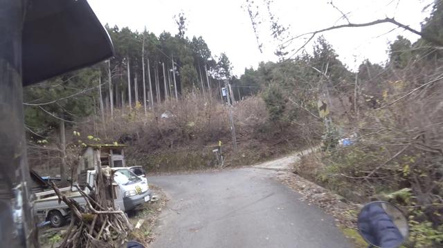 林道・奈良山線への分岐