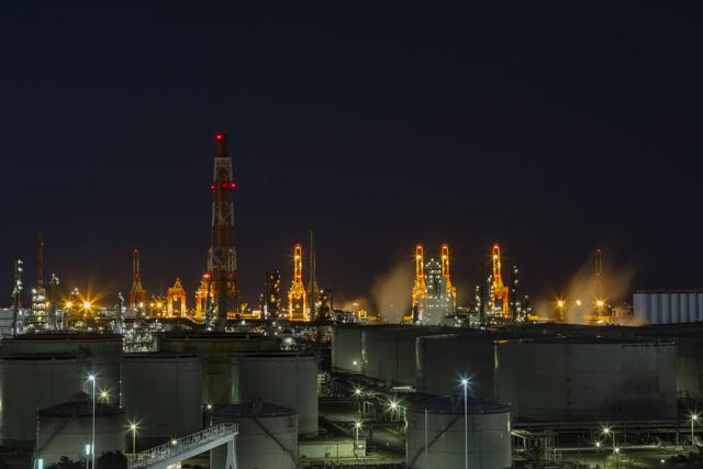 本牧臨海公園からの工場夜景