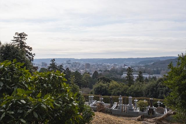 飯能・天覧山の中段からの景色