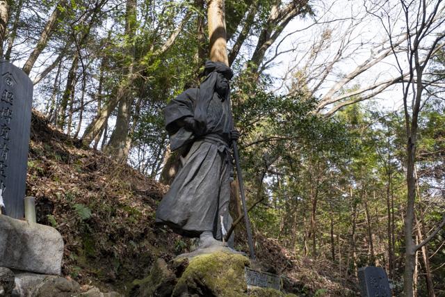 秩父御嶽神社・東郷公園の鴨下清八像