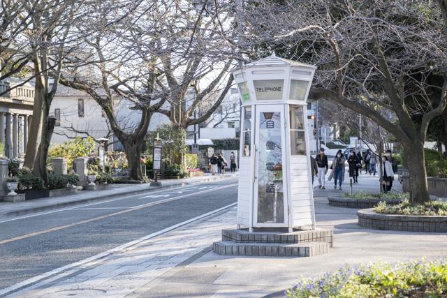 元町公園の自働電話