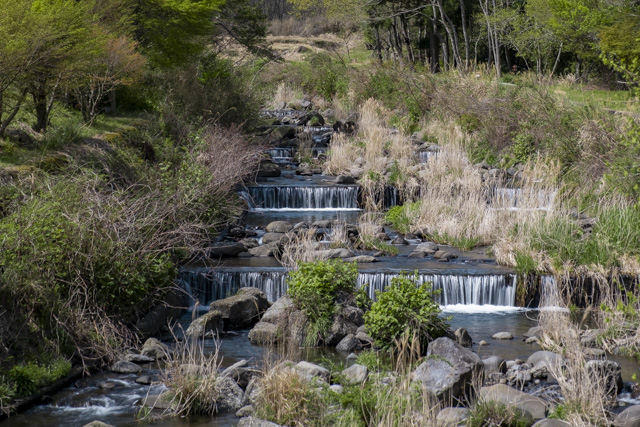 段々畑のような川