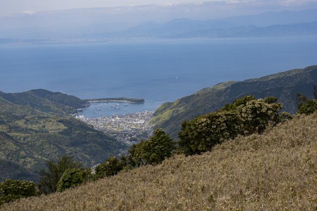 西伊豆スカイライン付近から戸田を眺める