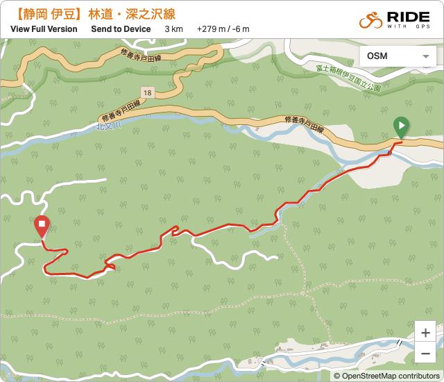 静岡・伊豆 林道・深之沢線のルート地図・GPSデータ